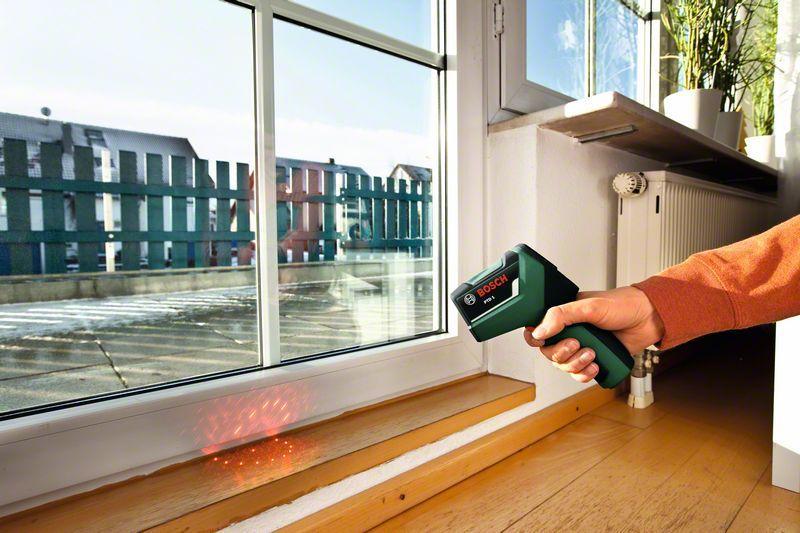 Makita Entfernungsmesser Opinie : Bosch thermodetektor ptd 1 2x batterien aa schutztasche maximaler
