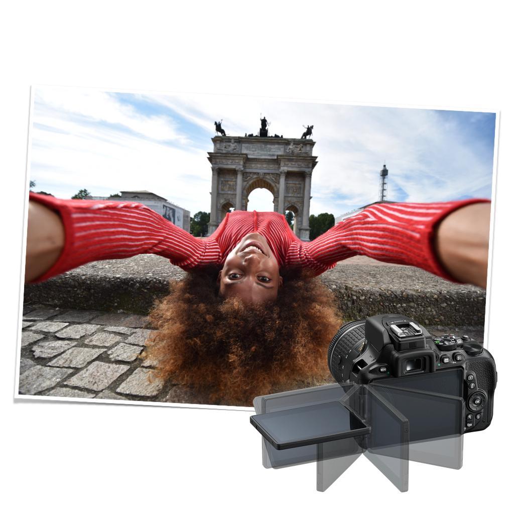 Nikon D5600 mit schwenkbarem Bildschirm