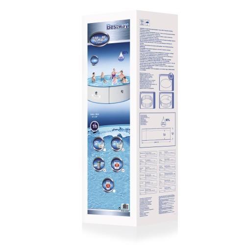 Bestway hydrium splasher stahlwandpool set wei 360 x 90 for Stahlwandpool 360 x 120