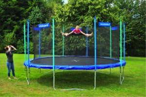 hudora fitness trampolin mit sicherheitsnetz sport freizeit. Black Bedroom Furniture Sets. Home Design Ideas