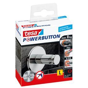 Gut tesa Premium-Haken, selbstklebend, hält bis zu 8kg, Chrom: Amazon  WE86