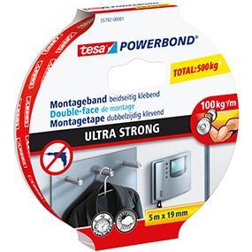 tesa powerbond ultra strong montageband doppelseitiges klebeband f r eine besonders starke und. Black Bedroom Furniture Sets. Home Design Ideas