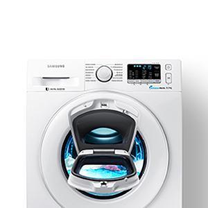 samsung ww80k5400ww eg waschmaschine fl a 116 kwh jahr 1400 upm 8 kg wei add wash smart. Black Bedroom Furniture Sets. Home Design Ideas