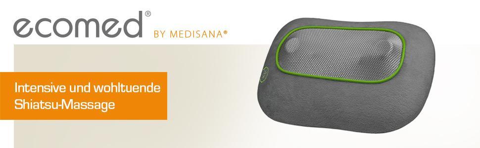 medisana ecomed mc 80e shiatsu massagekissen 23310 f r eine rundum entspannte nacken schulter. Black Bedroom Furniture Sets. Home Design Ideas