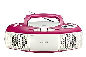 Grundig RRCD 1400 CD-RADIO-RECORDER in pink/weiß: Amazon