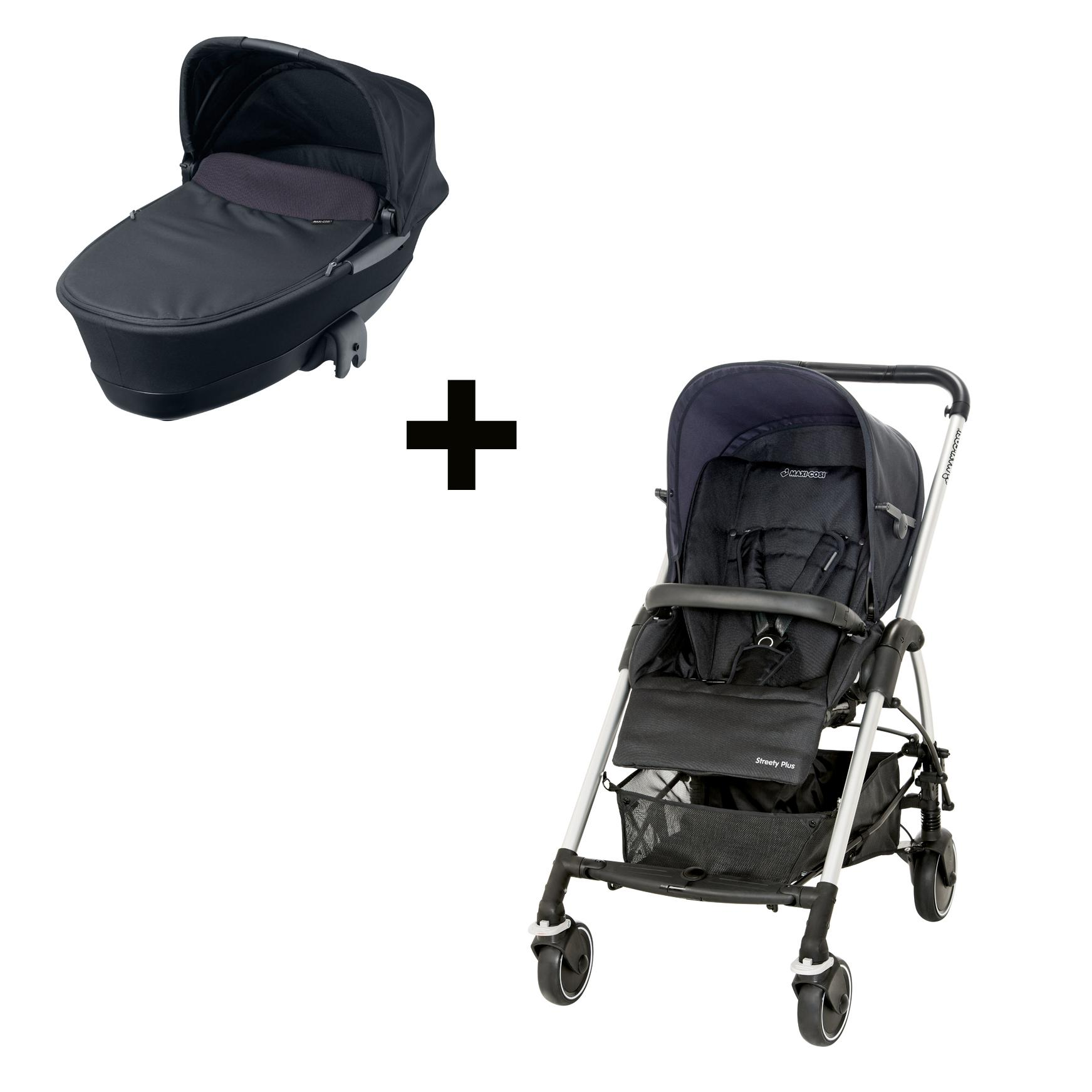 maxi cosi 19333397 streety pack kombikinderwagen buggy travelsystem total black amazon. Black Bedroom Furniture Sets. Home Design Ideas
