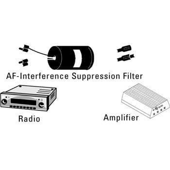 Endstörfilter Filter für Endstufen Verstärker gegen Störgeräuche Peifen Brummen