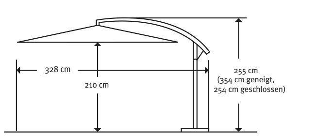 schneider schirm milano sand 270x270 cm quadratisch gestell stahl bespannung. Black Bedroom Furniture Sets. Home Design Ideas