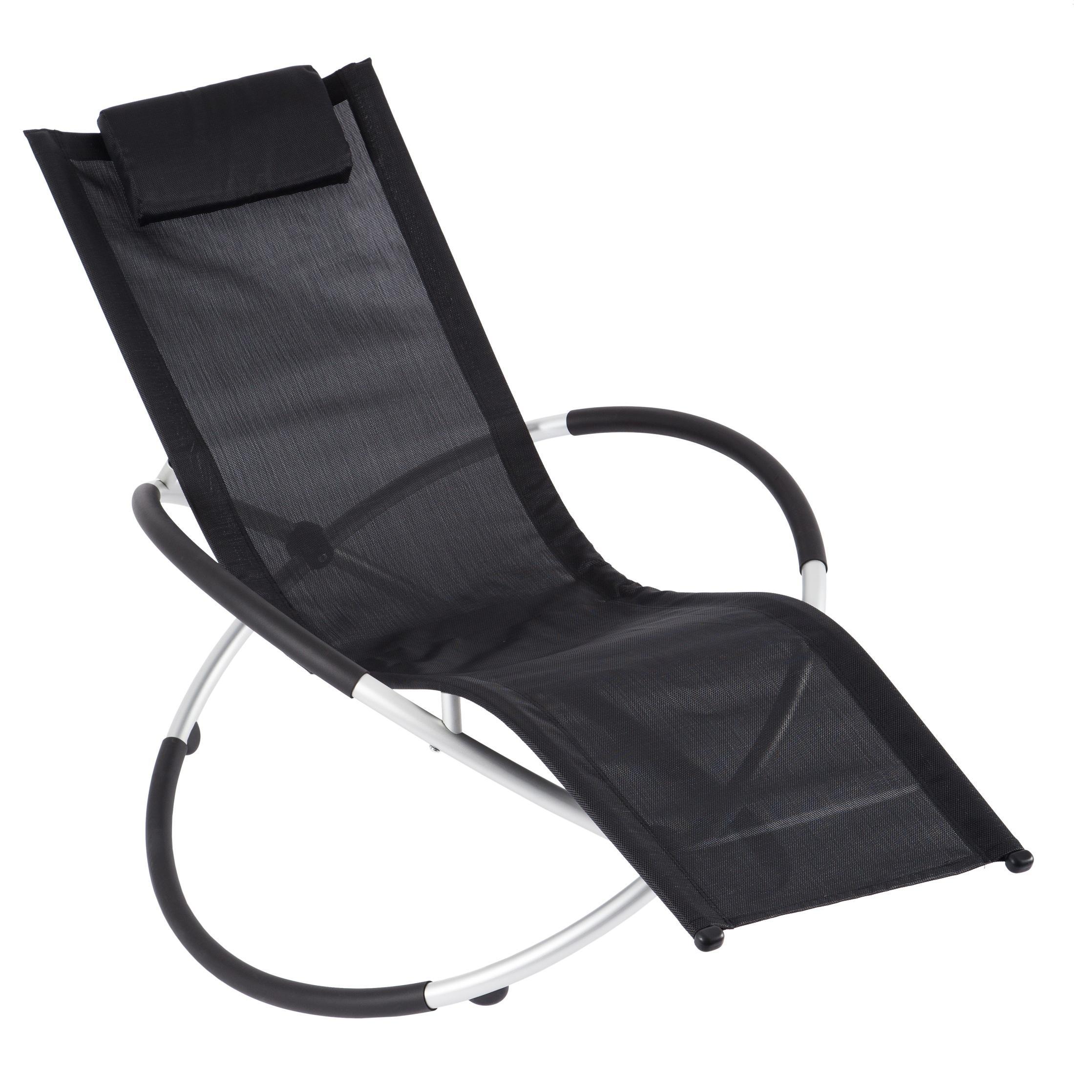 ultranatura haiti gartenliege wetterfest schwungliege aus aluminium f r garten und. Black Bedroom Furniture Sets. Home Design Ideas