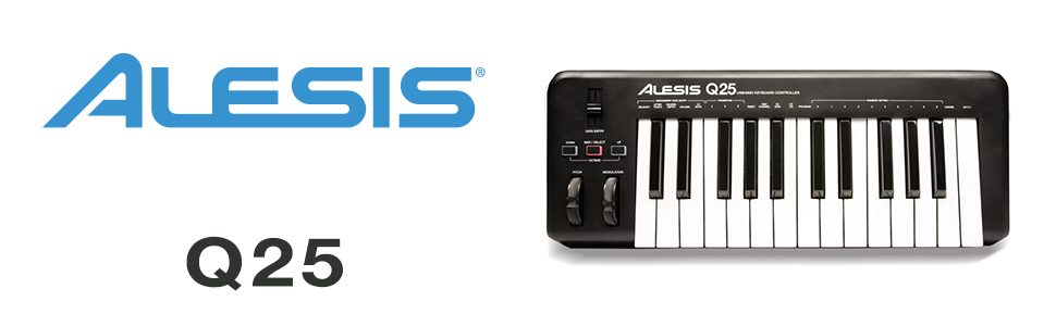 Alesis q25 usb midi keyboard controller mit 25 tasten softwaresteuerung mit pitch und modulation - Ableton live lite alesis edition ...