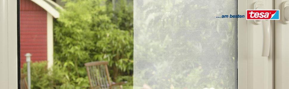 tesa insect stop fliegengitter zum ffnen und schlie en flexibles insektennetz f r fenster mit. Black Bedroom Furniture Sets. Home Design Ideas