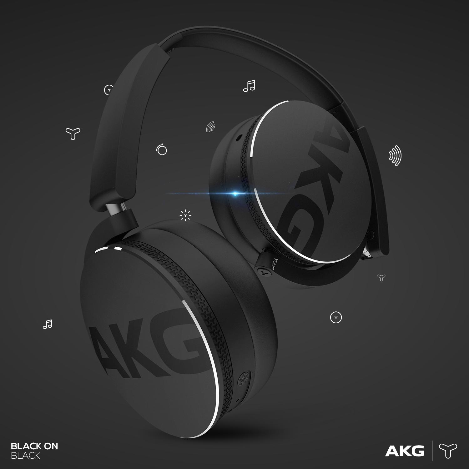 akg y50bt on ear wireless bluetooth kopfh rer. Black Bedroom Furniture Sets. Home Design Ideas