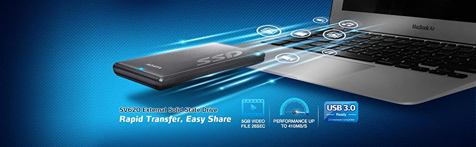 ADATA SV620 External Solid State Drive