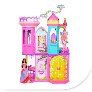 Barbie DPY39 - Barbie Regenbogen Schloss: Amazon.de: Spielzeug