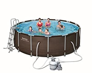 Bestway frame pool steel pro set 427 x 122 cm in for Garten pool bestway
