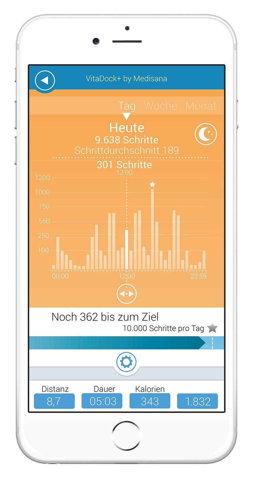 medisana vifit activity tracker mx3 vitadock app amazon. Black Bedroom Furniture Sets. Home Design Ideas