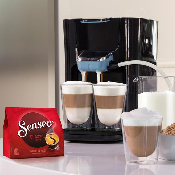 top ovp philips senseo latte duo hd7855 schwarz. Black Bedroom Furniture Sets. Home Design Ideas
