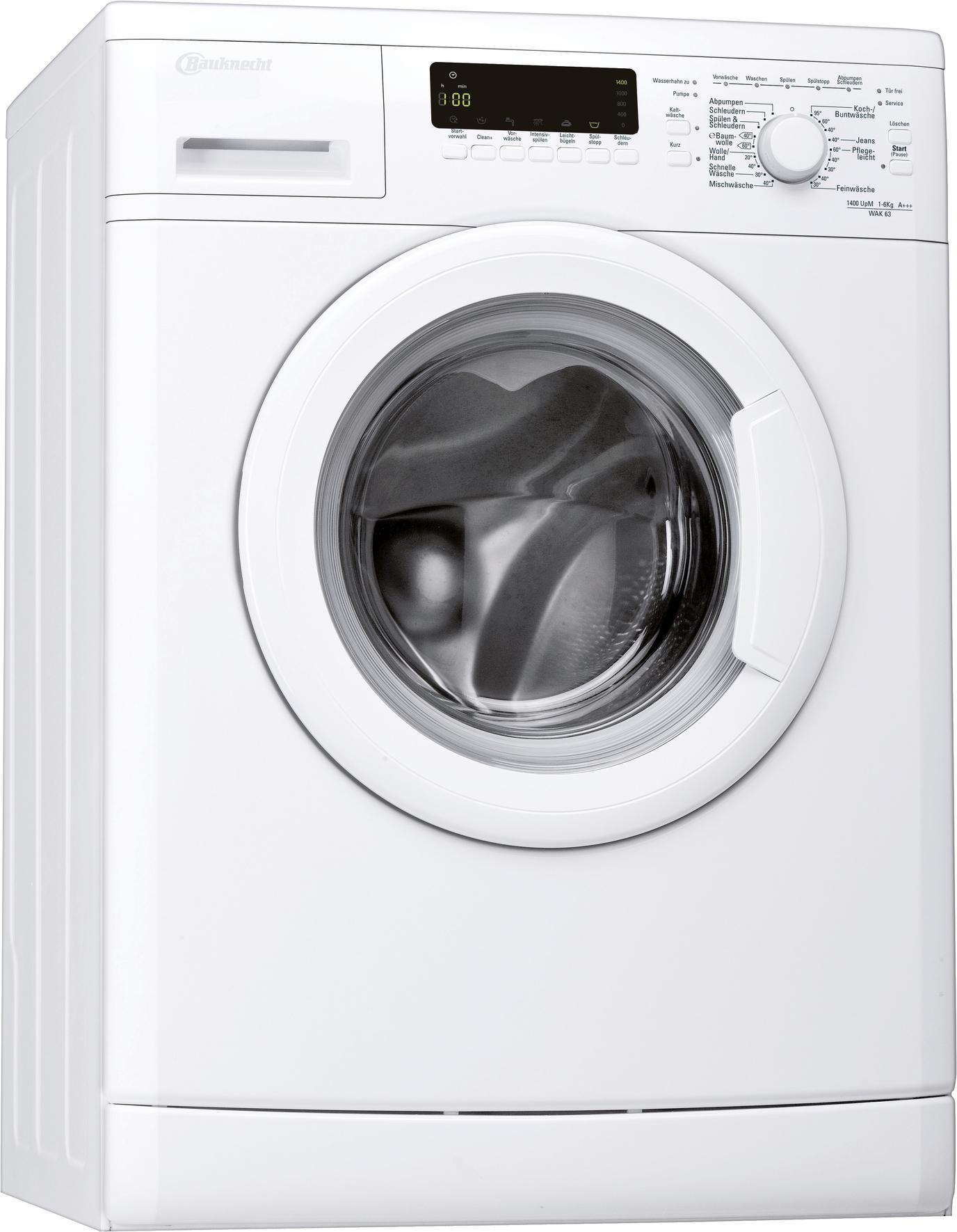bauknecht wak 63 waschmaschine fl a 147 kwh jahr. Black Bedroom Furniture Sets. Home Design Ideas