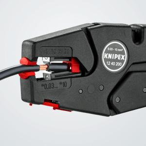 Knipex 12 40 200 – selbsteinstellende Abisolierzange