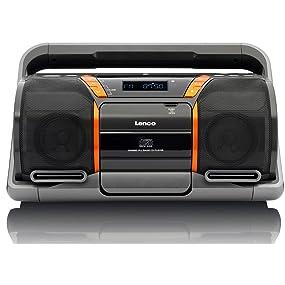 lenco boost 8 tragbarer cd mp3 player bluetooth usb sd kartenleser aux eingang stereo pll. Black Bedroom Furniture Sets. Home Design Ideas