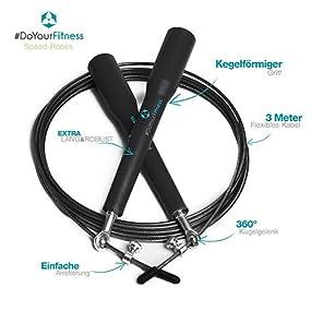 doyourfitness speed rope rapido high speed springseil 360 kugelgelenk mit verstellbarem. Black Bedroom Furniture Sets. Home Design Ideas