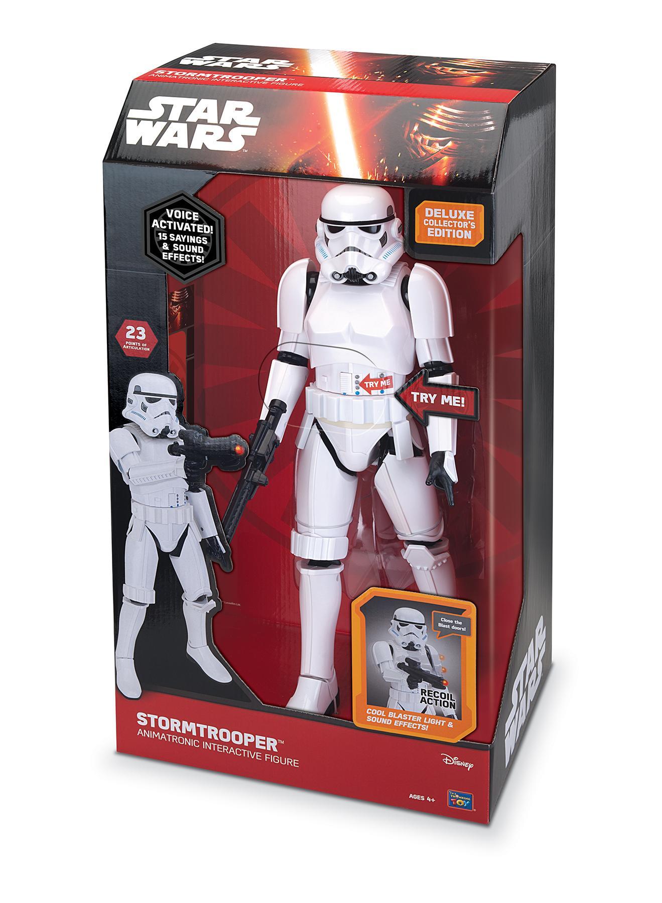Aufsteller & Figuren Star Wars Plüschfigur Mit Sound Stormtrooper 23 Cm *englische Version* Kunden Zuerst Film-fanartikel