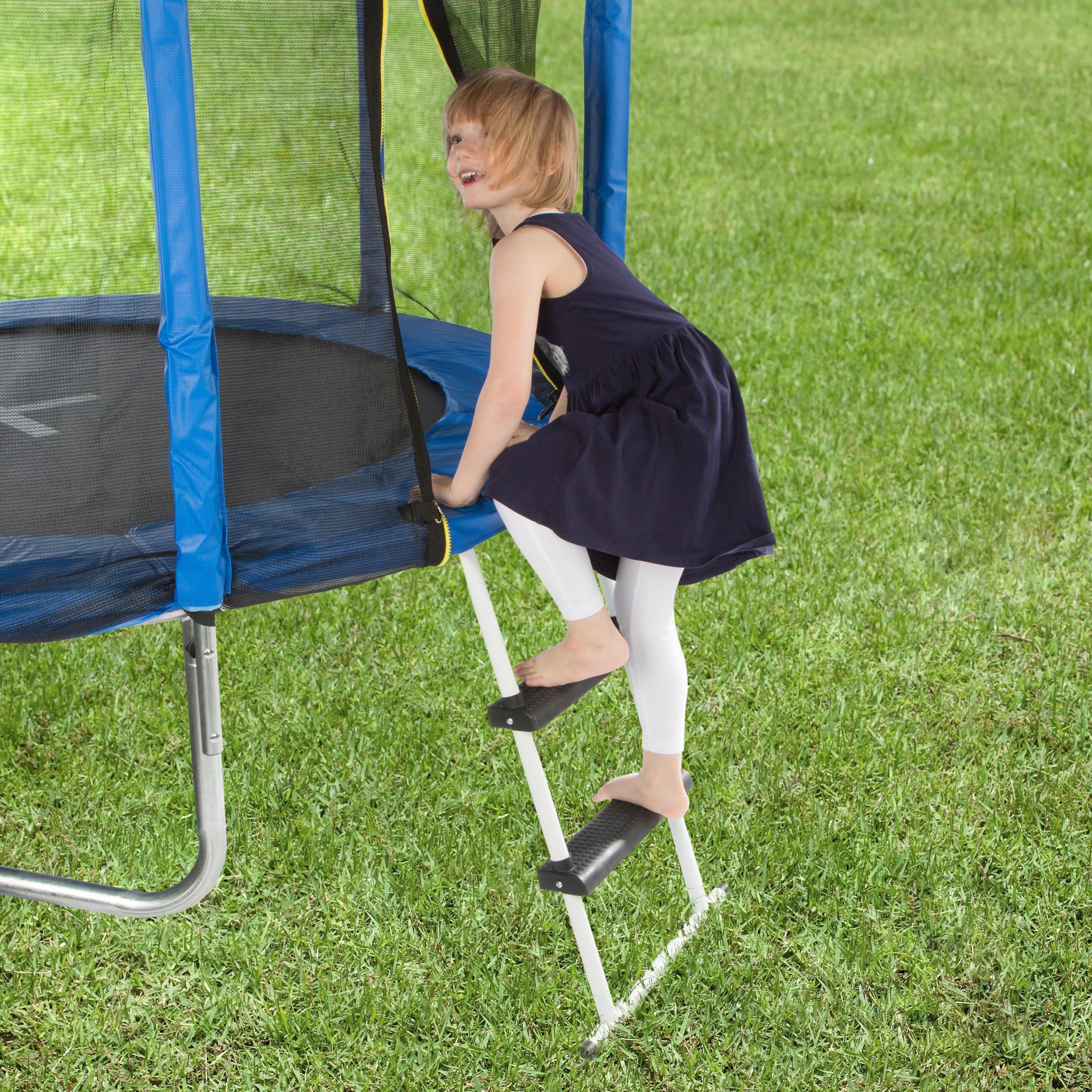 ultrasport trampolin leiter mit boden querstrebe f r alle g ngigen trampoline wei schwarz 75. Black Bedroom Furniture Sets. Home Design Ideas