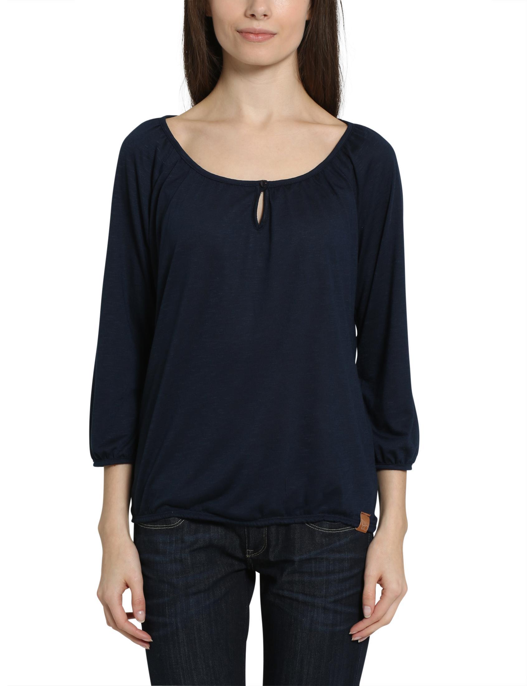 Berydale Damen Shirt mit elastischem Bund, Beige, Gr. 36
