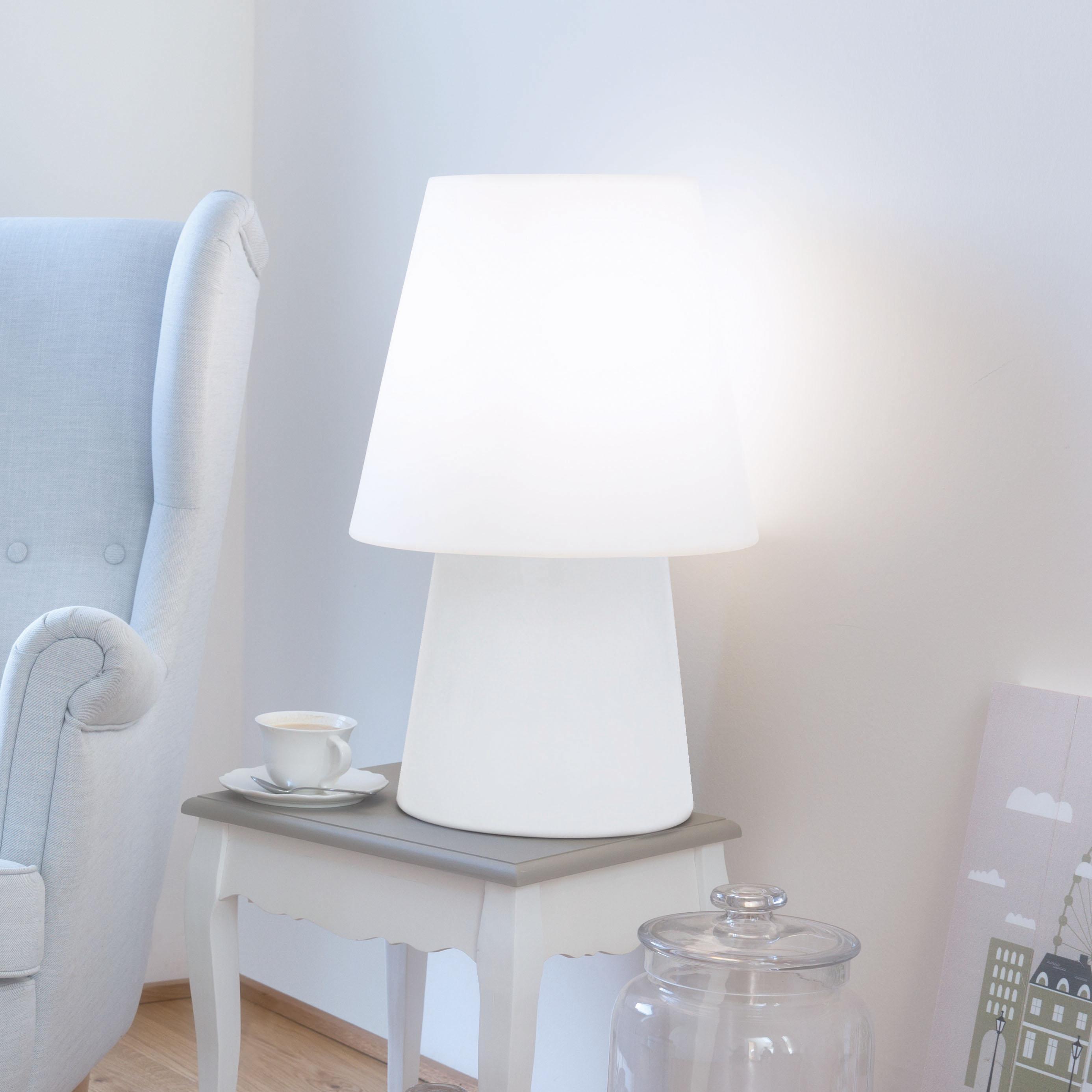 8 seasons design aparte tisch standleuchte no 1 white e27 60cm ip44 uv und. Black Bedroom Furniture Sets. Home Design Ideas