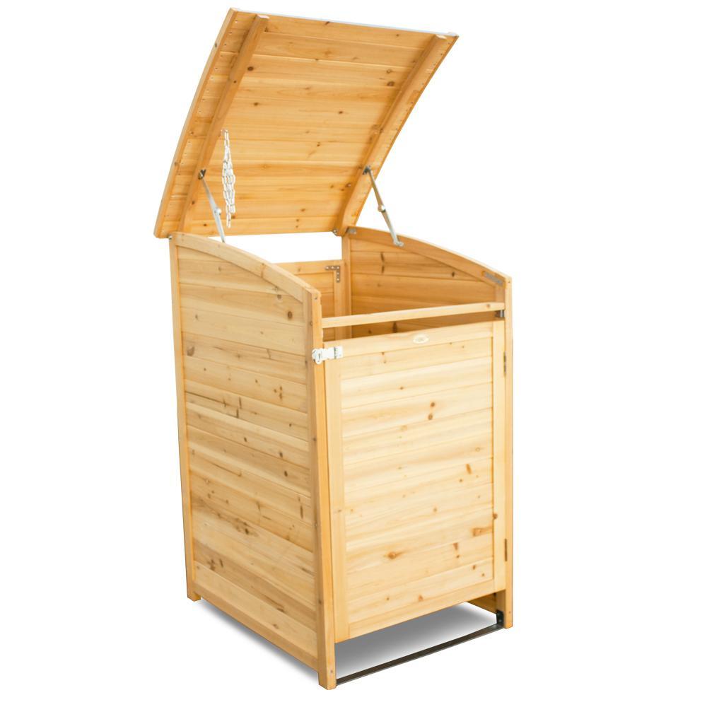 Habau Mülltonnenverkleidung Mülltonnenbox 120, Gelb, 65 x