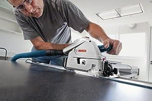 Der Splitterschutz der FSN 1100 Professional sorgt für saubere Schnittkanten.