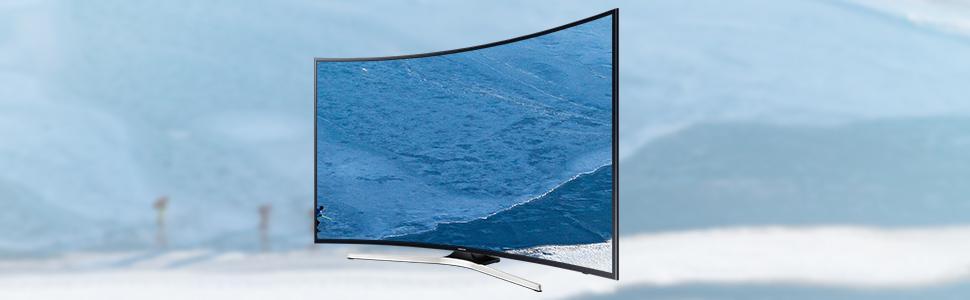 samsung ku6179 101 cm 40 zoll curved fernseher ultra hd. Black Bedroom Furniture Sets. Home Design Ideas