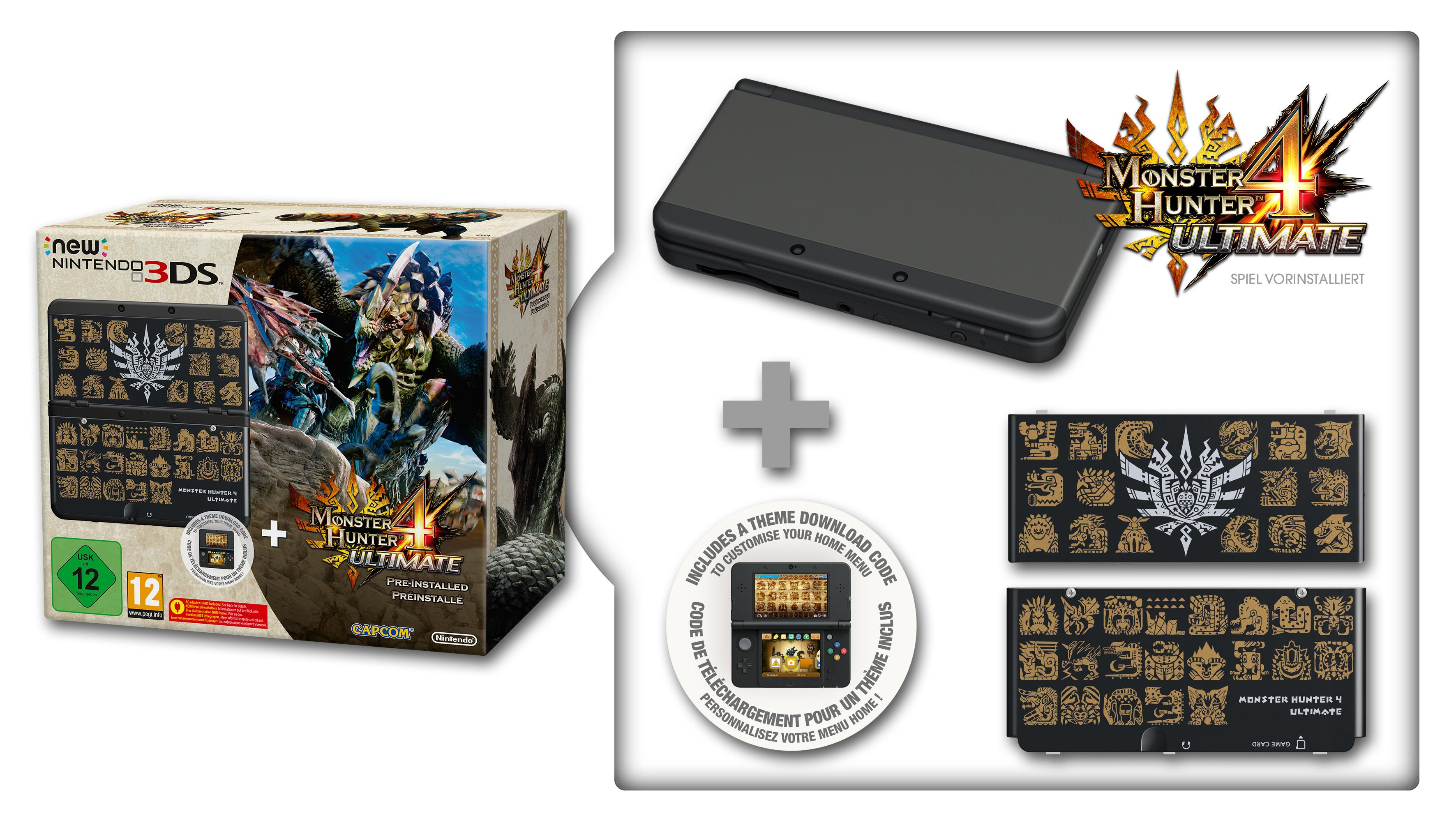 New Nintendo 3DS schwarz inkl. Monster Hunter 4 Ultimate + ...