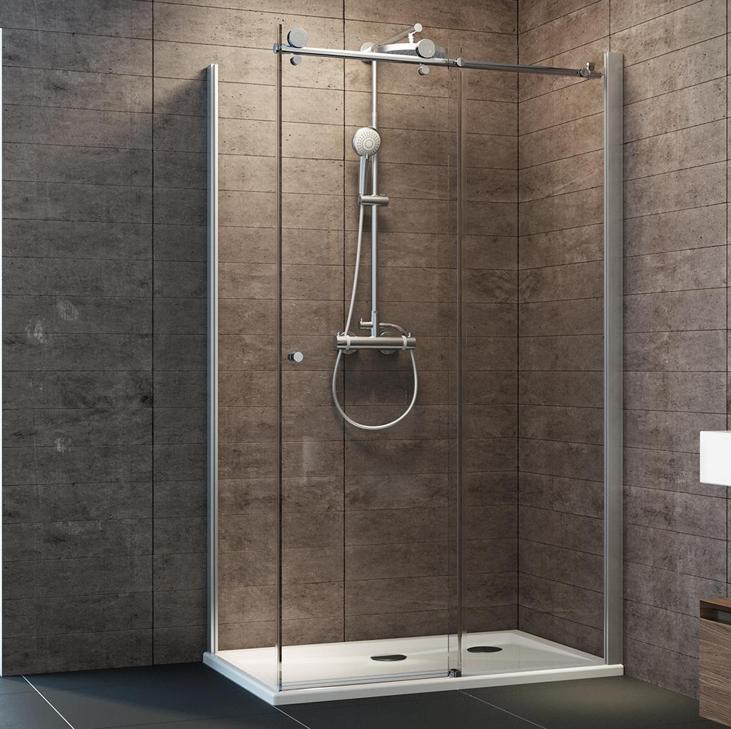 schulte duschkabine gleitt r seitenwand 120x80 cm links glas mit glasversiegelung chrom grande. Black Bedroom Furniture Sets. Home Design Ideas