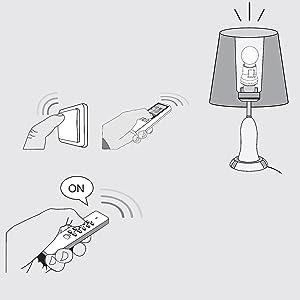 Trust Smart Home Funk Dimmer, E27 Fassungen AFR-100 für dimmbaren Halogen / Glühlampen bis zu 100 W,
