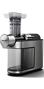 Amazon.de: Philips HR1949/20 Slow Juicer, Entsafter fur kaltes Pressen, maximale ...