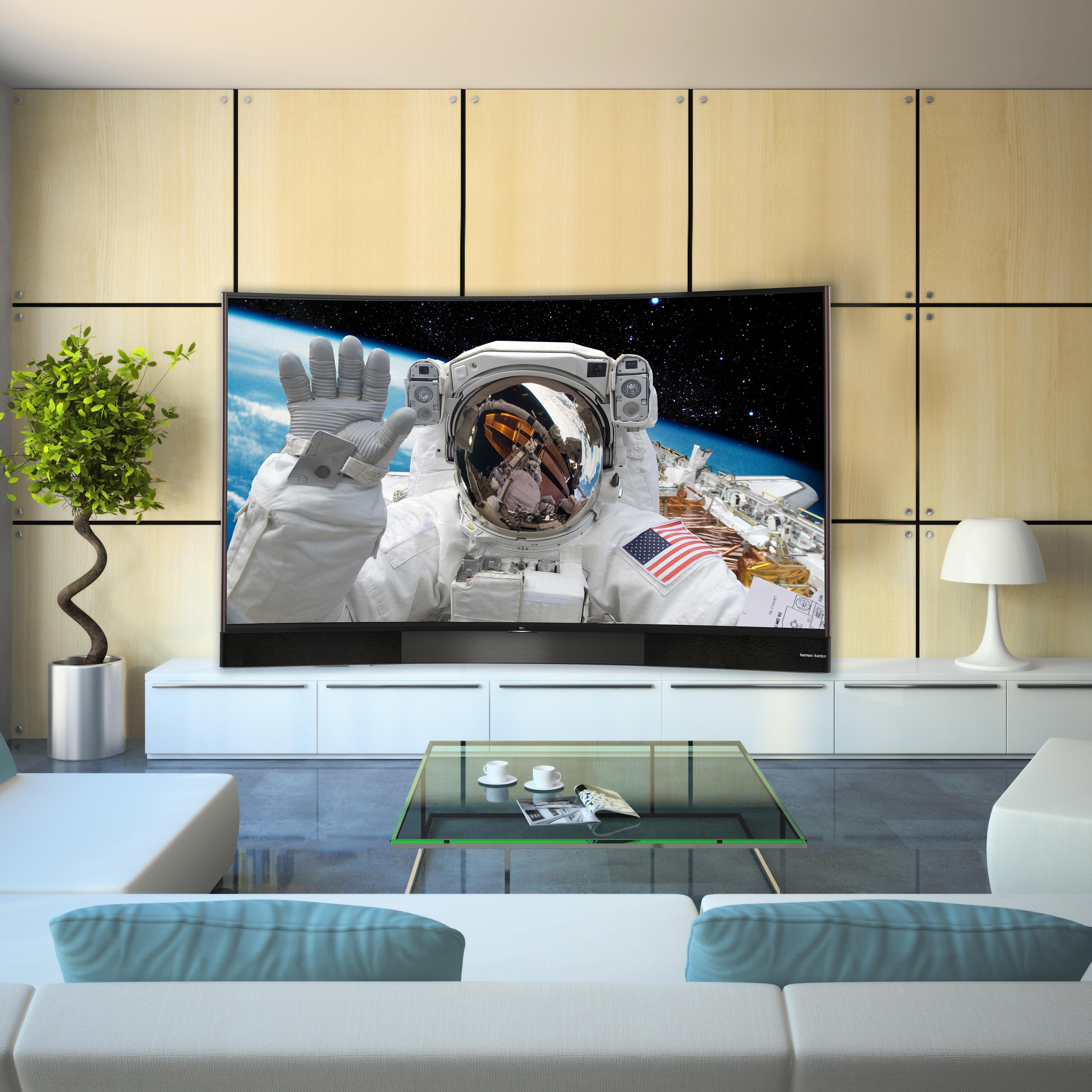TCL U55S8866S 140 cm (55 Zoll) Curved Fernseher (Ultra HD