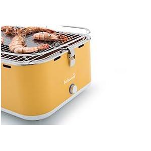 barbecook rauchfreier holzkohlegrill tischgrill carlo mit tragetasche gelb 43 5 x 33 5 x 20. Black Bedroom Furniture Sets. Home Design Ideas