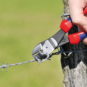 Knipex 74 02 160 – Kraft-Seitenschneider für 20 % Kraftersparnis, 160 mm