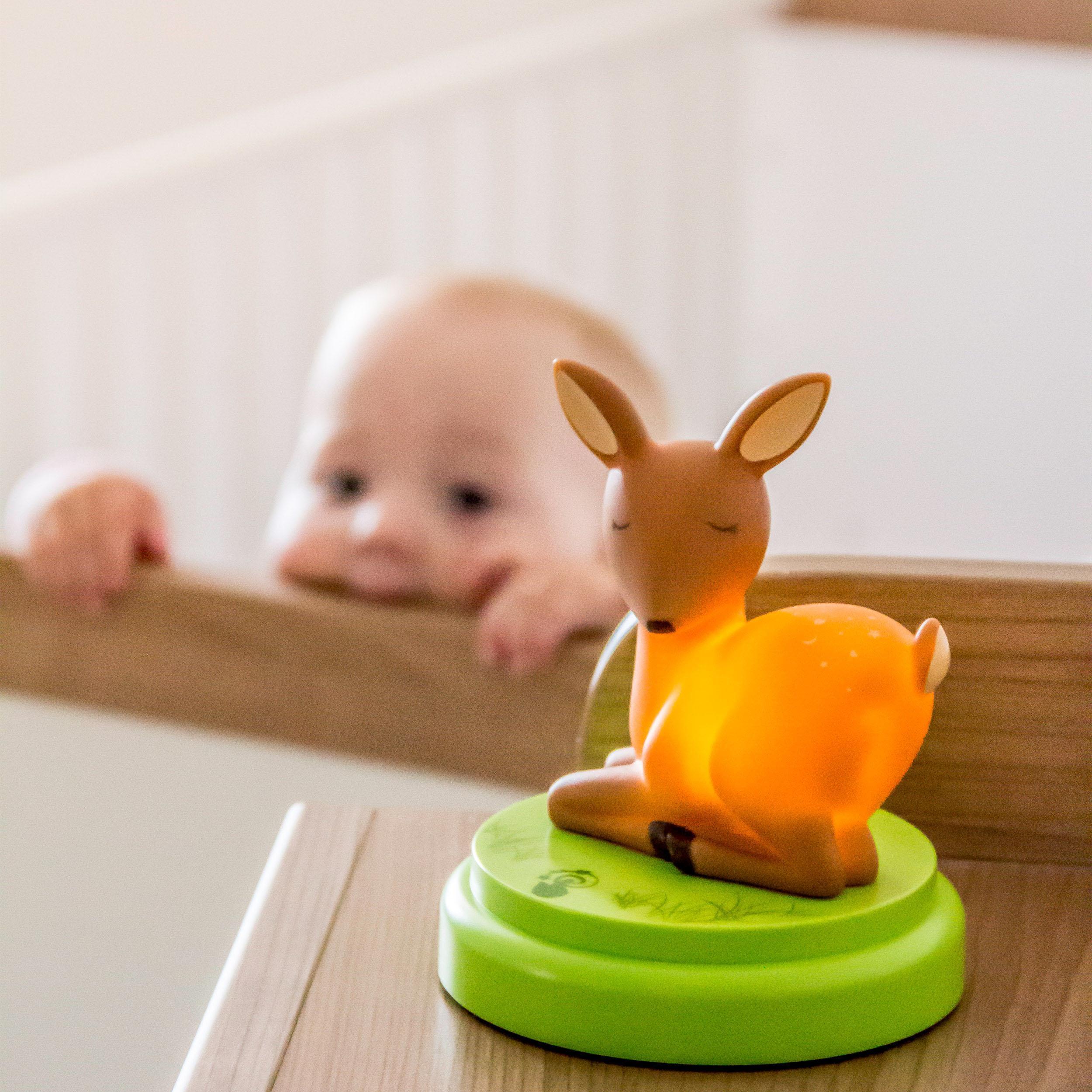 ansmann led nachtlicht niedliches reh f r kinder babys. Black Bedroom Furniture Sets. Home Design Ideas