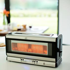 russell hobbs 21310 56 clarity glas toaster even toast system extra breiter to ebay. Black Bedroom Furniture Sets. Home Design Ideas