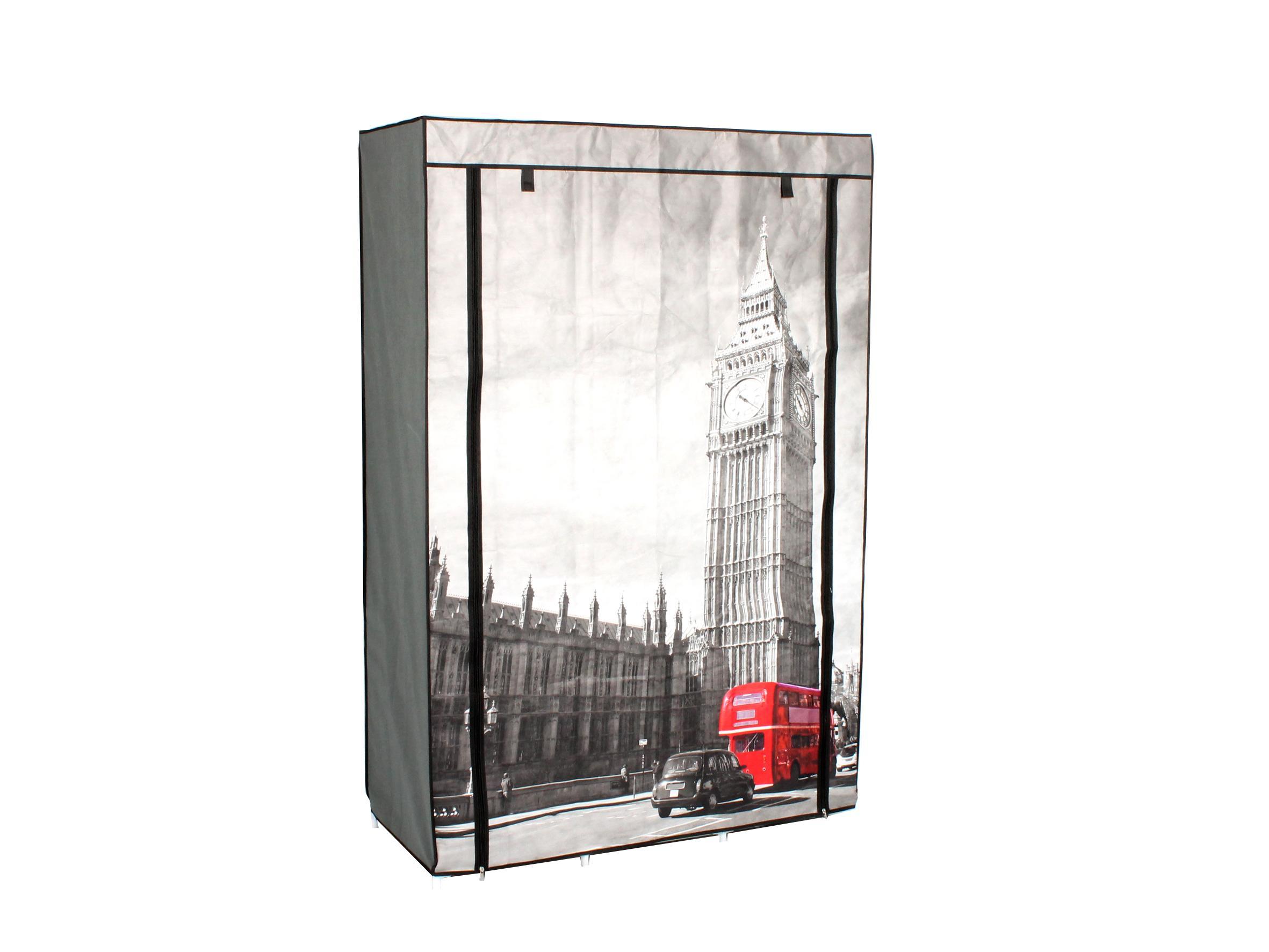 Stoffschrank Schuhschrank Schuhregal London Motiv mit roten Bus Big ...
