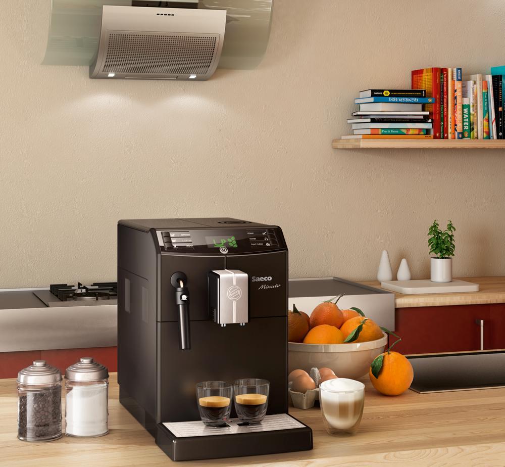 saeco hd8761 01 minuto kaffeevollautomat klassischer milchaufsch umer schwarz. Black Bedroom Furniture Sets. Home Design Ideas