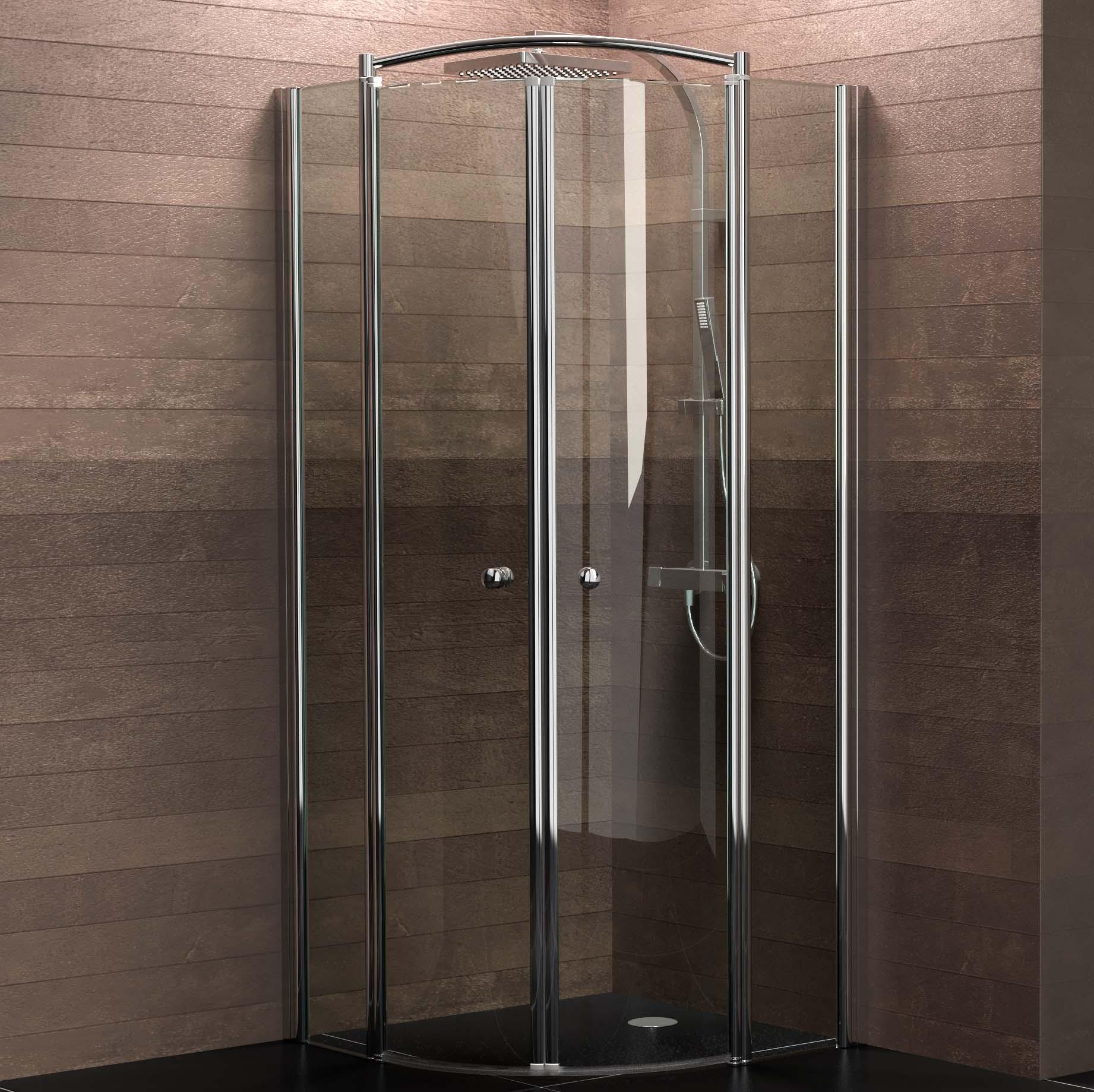 schulte duschkabine runddusche 90x90 cm viertelkreis radius 550 6mm glas mit glasversiegelung. Black Bedroom Furniture Sets. Home Design Ideas