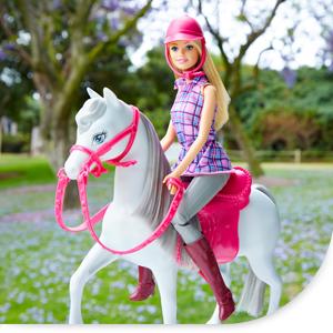 barbie dhb68 puppe und pferd puppen spielset mit abnehmbaren zubeh r m dchen spielzeug ab 3. Black Bedroom Furniture Sets. Home Design Ideas