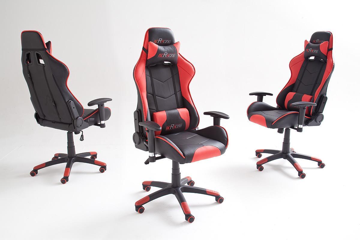 mc racing 5 62495sr3 gaming stuhl sportsitz b rostuhl schreibtischstuhl inklusiv kissen 69. Black Bedroom Furniture Sets. Home Design Ideas