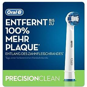 Oral B Precision Clean Aufsteckbürsten Umschließt Jeden Zahn