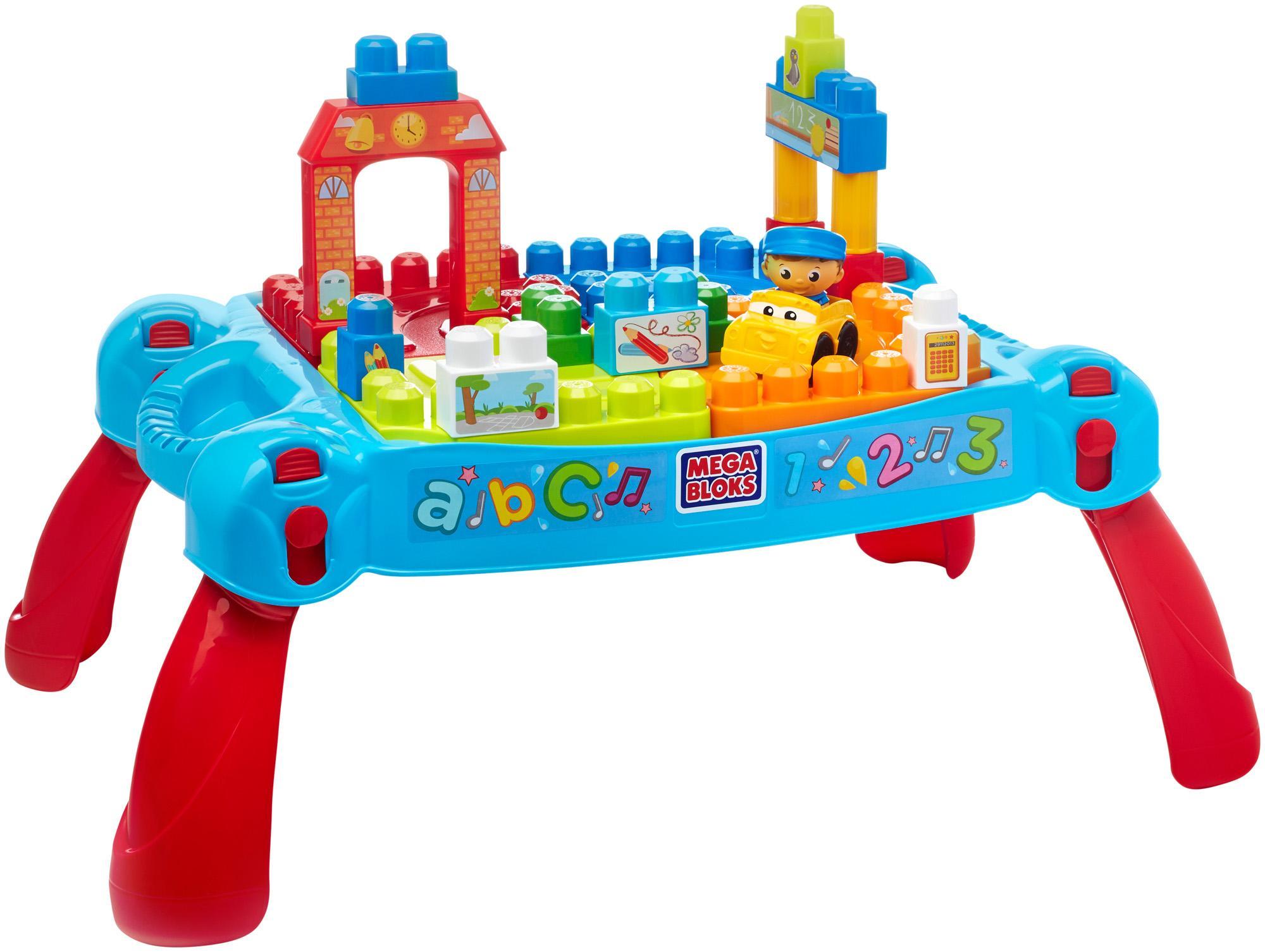 Spielzeug Mattel Mega Bloks CNM12 Bau und Spieltisch 12 bunte ...