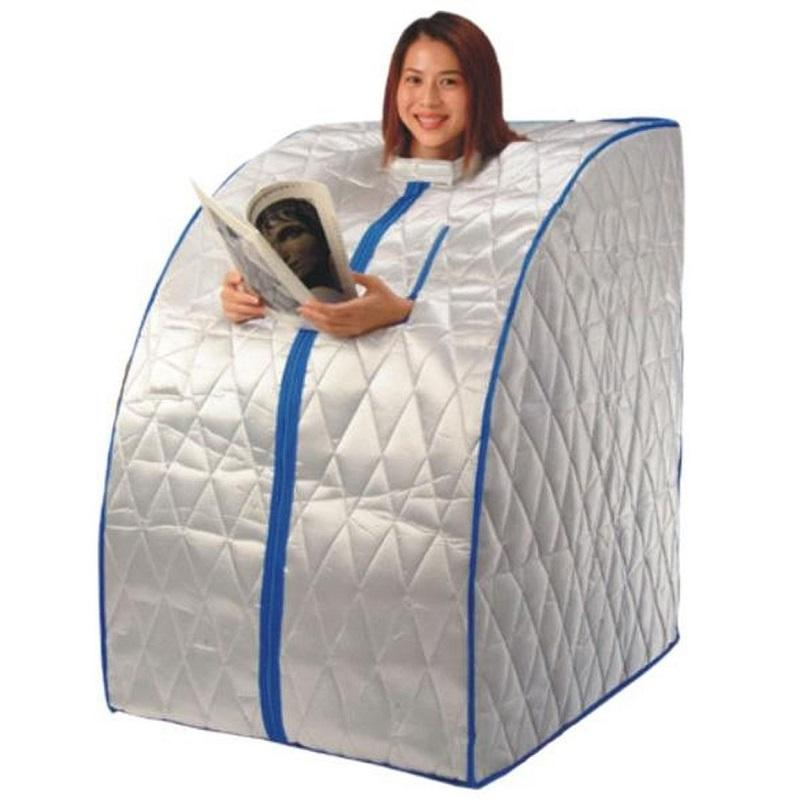 mobile infrarotsauna infrarotw rmekabine 1000 w inkl zubeh r xxl ausf hrung in silber amazon. Black Bedroom Furniture Sets. Home Design Ideas
