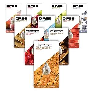 Liquid für e-Zigarette im Probierbeutel von DIPSE.